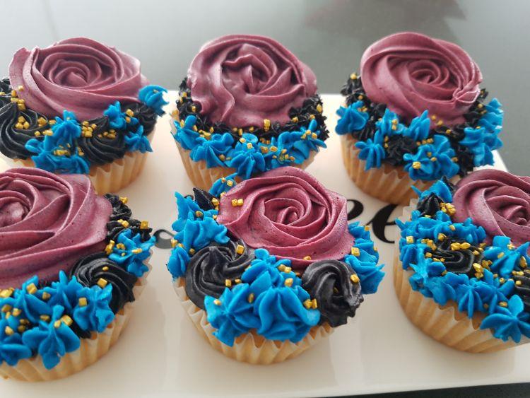 cupcakes blauw roze