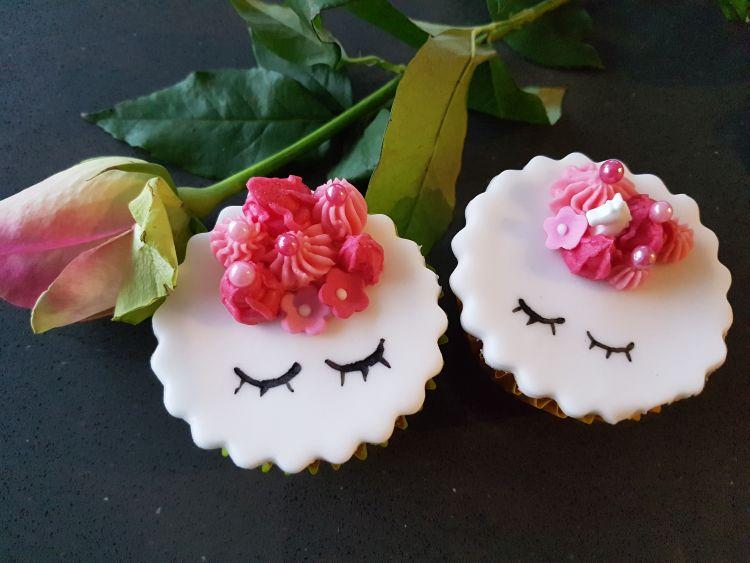 cupcakes unicorn roze