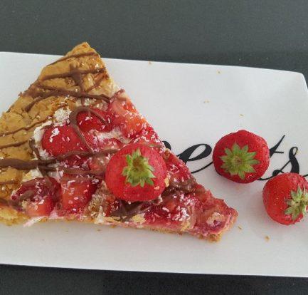 aardbeien plaattaart op bord I
