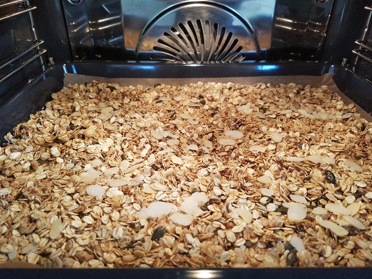 granola in de oven